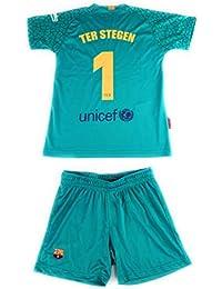 Rogers Equipación 17-18 FC Barcelona niño TER STEGEN camiseta pantalón ... 7dbb9aa1f68a1