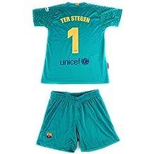 Rogers Equipación 17-18 FC Barcelona niño TER STEGEN camiseta pantalón ... a68670bdb22