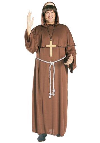 Kostüm Für Friar Tuck Erwachsene - Friar Tuck Mönch Kostüm. Erwachsene Größe Extra Large. Brustumfang 42-46. Perücke, Kleid und Gürtel.