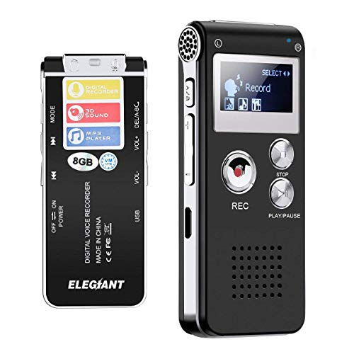 8 Gb Voice Aktiviert Langlebige Dual Mikrofone Mini Digital Recorder Diktiergerät Multi-sprachen Noise Reduktion Tragbares Audio & Video