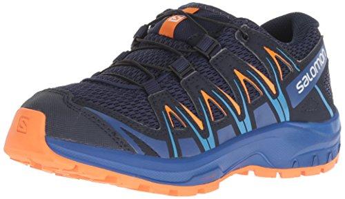 Salomon XA Pro 3D J, Zapatillas de Deporte Unisex Niños, Azul (Medieval Blue/Mazarine Blue/Tangelo), 38 EU