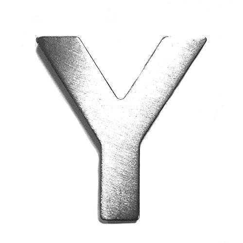 Metall-Buchstabe Y, gebürstetes Edelstahl – Höhe 4 cm, Zimmerbeschriftung, Bürobeschriftung, Kinderzimmer, Wandbeschilderung – selbstklebend
