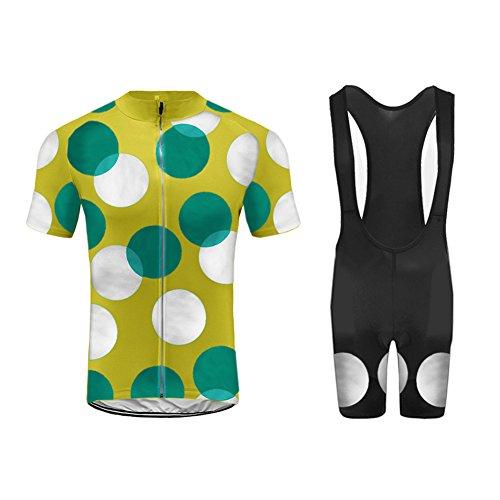 Uglyfrog Set Moda Maglia Ciclismo Jerseys Per Uomo Corta Manica Tuta Estivo + Pantaloni corti di ciclismo Abbigliamento Ciclismo Sportivo Professionale Traspirazione Comodo
