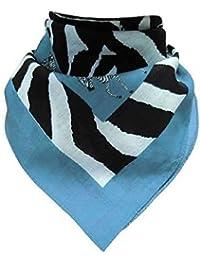 Doktor Hardstuff Women's Neckerchief Multicoloured Blau, Schwarz, Weiß One size