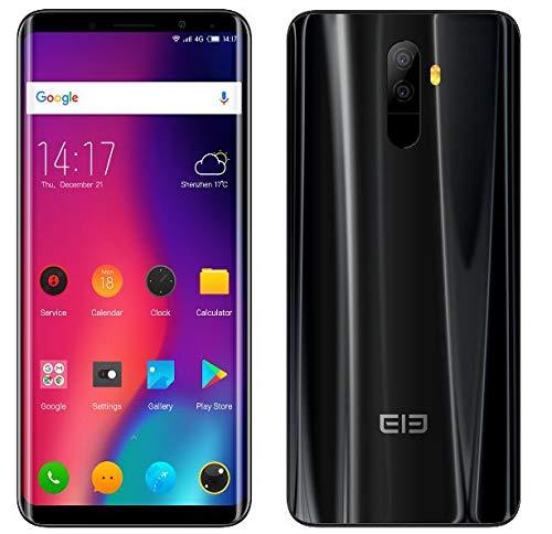 "ELEPHONE U handys ohne Vertrag - 5,99""(18:9) FHD + Geschwungenes Display(AMOLED), Android 7.1, 4G-Smartphone (Ultra dünn), Octa-Core 6 GB + 128 GB, Duale Rückkamera 13MP + 13MP, Dual SIM GPS Schwarz"