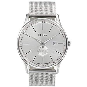 Ruhla 91235M 306567-Armbanduhr Herren, Armband in Edelstahl