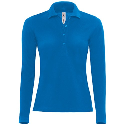 B&C Collection Safran pure long sleeve /women Royal Blue