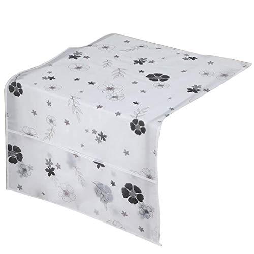 Blumen Fur Bag (Pinhan Nette Blume Tier Gedruckt Wasserdicht Kühlschrank Staubschutz Haushalt Gefrierschrank Top Bag Kühlschrank Aufbewahrungstasche für Zuhause, Schwarze Blumen)