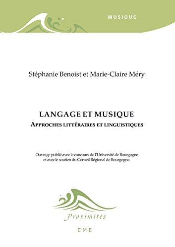 Langage et musique (Proximités Musique)