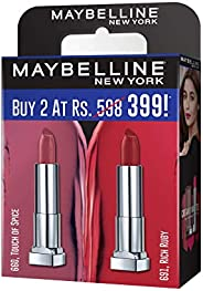 Maybelline Creamy Matte Touch of Spice & Rich Ruby (Pack o