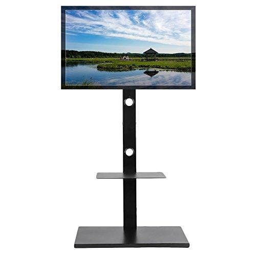 unho LCD LED TV Fernseher Ständer Stand Fernsehtisch Standfuss Stahl Standfuß Halterung Höhenverstellbar Fernsehstand LED Flachbildschirm Rack Tischständer für 32-65 Zoll (Höhe Rack)