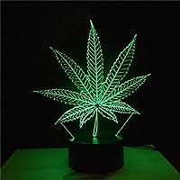 NaiCasy 3D Colorido Hojas de Arce LED Touch Visual luz de Noche atmósfera lámpara decoración del hogar