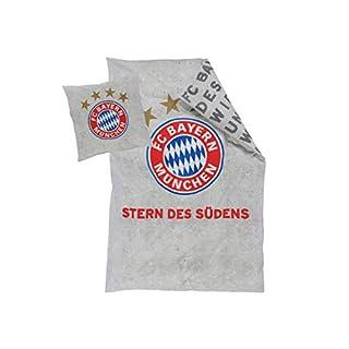 FC Bayern München Bettwäsche Stern des Südens, grau 135x200 cm