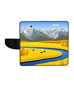 KolorEdge Printed Flip Cover For Lenovo Vibe P1M Multicolor - (1478-50KeMLogo11252LenovoP1M)