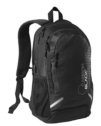 CarbonBlack Zaino da Viaggio Leggero Impermeabile con Porta Laptop Zaino Plastica Riciclata Zaino da Cabina Bagaglio Mano