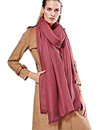 Prettystern - extra großer Schal Pashmina XXL Tuch 100 Garn 100% Wolle besonders fein & weich - viele Farben