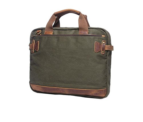 DJB/Canvas Laptop Tasche Herren Laptop Aktentasche armee-grün