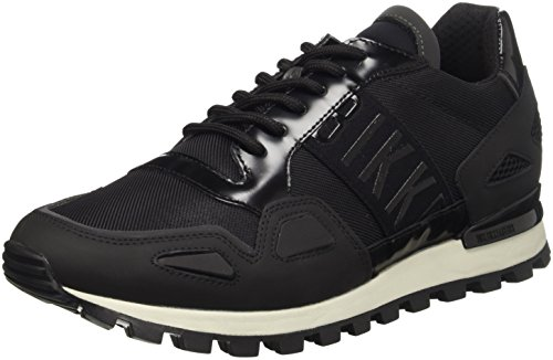 Bikkembergs Fend-Er 739 Shoe M Rubber Leather/Fabric, Scarpe Low-Top Uomo, Nero, 44 EU