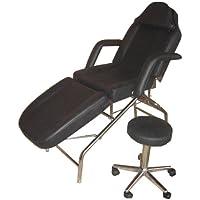 Kosmetikliege Kofferliege faltbar mechanischer Rücken- sowie Beiteilverstellung inkl. Rollhocker