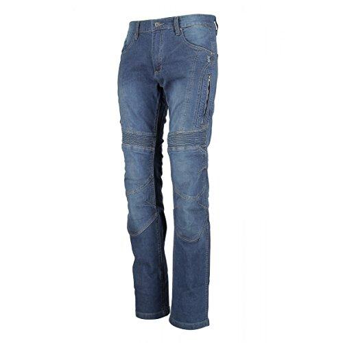 Oj - jeans 4 stagioni tessuto esterno in denim elasticizzato breath man, blu, 48