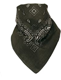 Bandana mit original Paisley Muster in olive