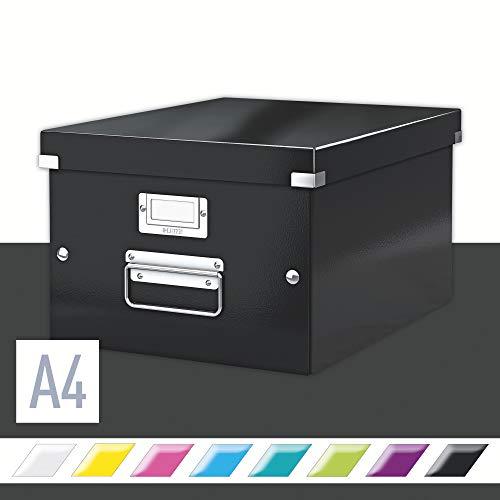 Leitz Caja de Almacenaje A4, Gama Click and Store 60440095 - Mediana, Negro