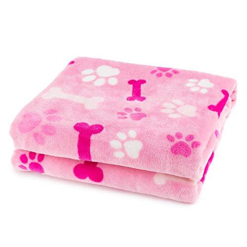 Allisandro® Hundedecke Haustier Katzen Decke Flanell Rosa sehr Weich und Schöne perfekt für Winter(100 * 80cm) -