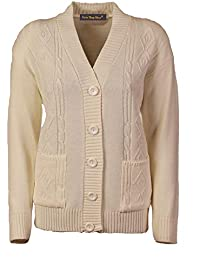 4e86fd26b65 Lets Shop Shop New Classic Womens Cardigan Ladies Sizes 10-20 Cable Knit  Long Sleeve