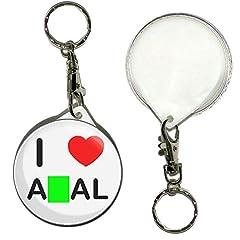 Idea Regalo - I Love An*l - Portachiavi con badge Button da 55 mm