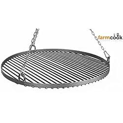 FARMCOOK Rost für Schwenkgrill Stahl sandgestrahlt 4 Größen bis 80 cm Ø (Ø 50 cm)