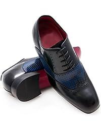 Zerimar Zapatos con Alzas Interiores para Hombres Aumento 7 cm   Zapatos de Hombre con Alzas Que Aumentan Su Altura   Zapatos Hombre   Zapatos Hombre Casuales   Color Negro Talla 40