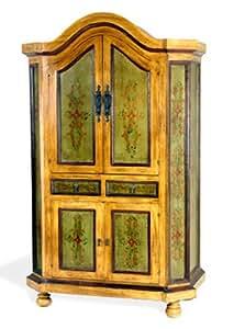 Meubles Valentina - Armoire coloniale 4 portes - 2 tiroirs