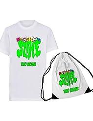 SpotApplick T Shirt + Sacca Slime Bambino Bambina Me Contro Te Replica Youtube Sofi e Lui Mezza Manica Personalizzata