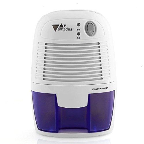 Amzdeal Luftentfeuchter Raumentfeuchter, Entfeuchter Super Leise Sicher und Effizient mit 500mL Wassertank, leichter Lufttrockner gegen Feuchtigkeit und Schimmel, im Schlafzimmer und Badezimmer