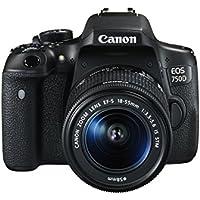 Canon EOS 750D + EF-S 18-55 IS STM SLR Camera Kit 24.2MP CMOS 6000 x 4000pixels Black - Digital Cameras (24.2 MP, 6000 x 4000 pixels, CMOS, Full HD, Touchscreen, Black)
