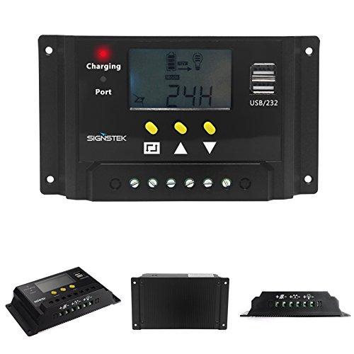 Signstek Solar Panel Regler Laderegler 12V / 24V 240W/480W 30A PWM LCD Display mit Dual USB Für Camper / Wohnwagen / Boot - 7