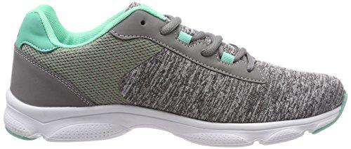 Geka Stretch, Chaussures De Sport Basses Pour Femme Grey (grau / Tuerkis Grau / Tuerkis)