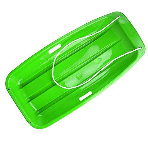 ZXXxxZ Slittino da Neve per Bambini in Plastica per Slittini con Corda, 2 Maniglie, Sabbia Sprinter in Discesa di Slittino per Sci D'erba,Verde,88 * 43cm