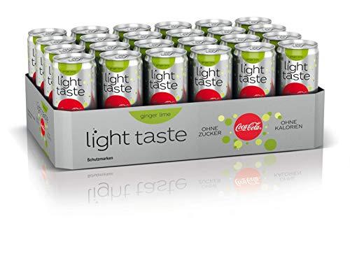 Coca-Cola Light Taste Ginger Lime / Der leichte Geschmack mit einer Note von Ingwer und Limette / 24 x 330 ml Einweg Dose