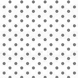 Baumwollstoff Punkte Weiß Grau Webware Meterware Popeline OEKOTEX 150cm breit - Ab 0,5 Meter