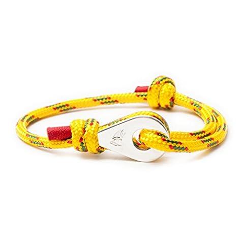Wind Passion Nautical cord bracelet Sailing bracelet Nautical paracord bracelet Yellow rope bracelet (Golden