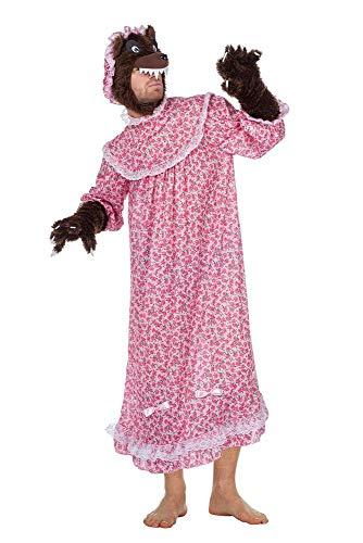 Kostüm Oma Rotkäppchen - shoperama Böser Wolf Großmutter Herren Kostüm 4-teilig Rotkäppchens Oma Karneval Märchen, Größe:56