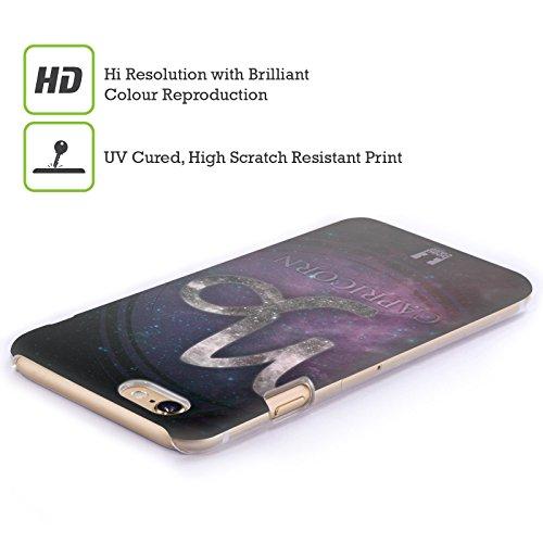 Head Case Designs Sagittario Nebulose Zodiacali Simboli Cover Retro Rigida per Apple iPhone 5 / 5s / SE Capricorno