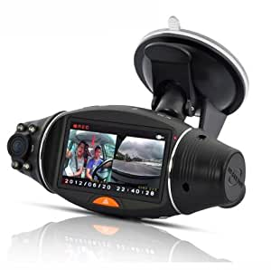 BW BWSC310 2.7 Inch Rotatable Screen Dual Camera Car DVR with GPS Logger and GPS Sensor Night Vision