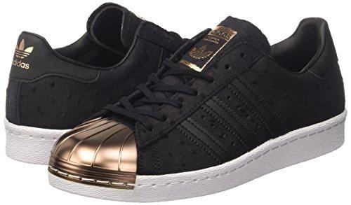 Adidas Sneaker Women SUPERSTAR 80S METAL TOE W S76712 Schwarz, Schuhgröße:37 1/3 -