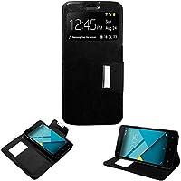 9070ddfc04b Donkeyphone S1BXM531200 - Flip Cover para Bq Aquaris m5 y Funda con  Ventana, Tapa,