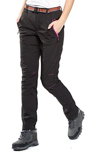 HAINES Pantaloni Trekking Donna Invernali Pantaloni Softshell da Montagna  Pantaloni Escursionismo Impermeabili,Stile 4 Nero 135f0b947ef