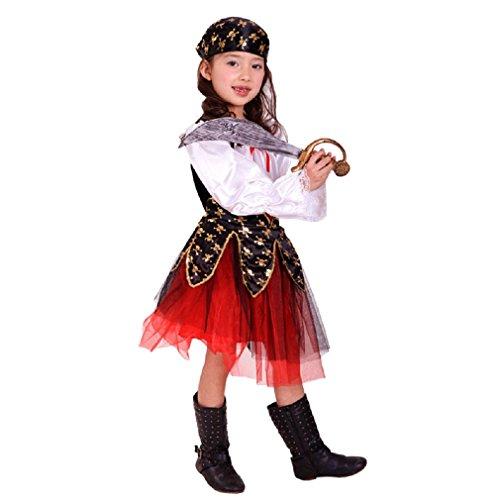 Imagen de jt amigo disfraz de pirata para niña, talla 7 8 años alternativa