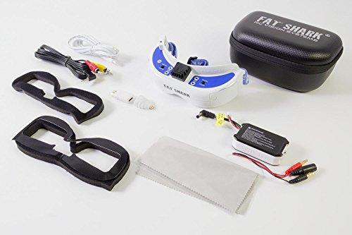 Fatshark 17000300 - Dominator V3 FPV Videobrille mit Akku - 2