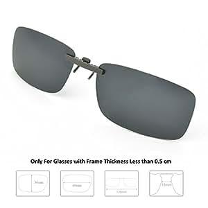 Enem Day Vision Polarized Black Clip-on Metal Clip Driving Sunglasses